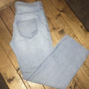 Express Jeans Boyfriend Jeans Light Wash Denim Sz0